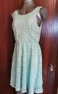 Lush Green Lace Dress Size Medium